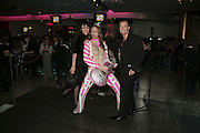 Martine McCutcheon and Julian Macdonald, Andy and Patti Wong's Chinese New Year of the Pig party. Madame Tussauds. ( Dress Burlesque, Debauched or Hollywood Black Tie. ) London. 27 January 2007.  -DO NOT ARCHIVE-© Copyright Photograph by Dafydd Jones. 248 Clapham Rd. London SW9 0PZ. Tel 0207 820 0771. www.dafjones.com.