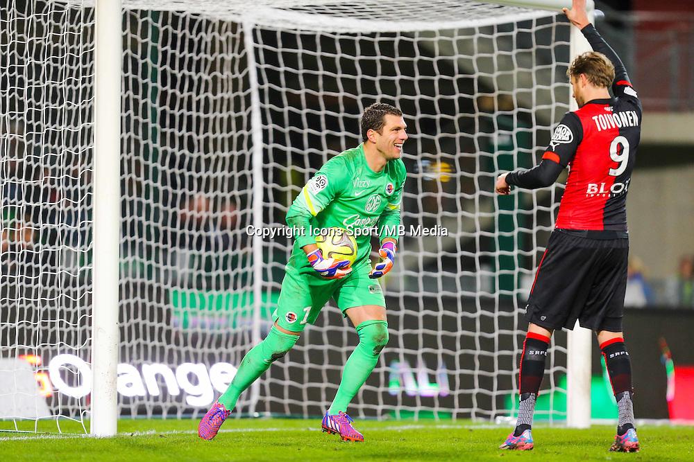Remy VERCOUTRE / Ola Toivonen  - 25.01.2015 - Rennes / Caen  - 22eme journee de Ligue1<br /> Photo : Vincent Michel / Icon Sport *** Local Caption ***