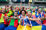 Snow White and more than seven dwarves during the EFL Sky Bet Championship match between Brighton and Hove Albion and Brentford at the American Express Community Stadium, Brighton and Hove, England on 10 September 2016. Photo by Bennett Dean.