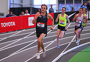 Craig Engels runs in the Toyota Mile run during the USA Indoor Track and Field Championships in Staten Island, NY, Sunday, Feb 24, 2019. (Rich Graessle/Image of Sport)