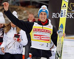 18.03.2012, Planica, Kranjska Gora, SLO, FIS Ski Sprung Weltcup,  im Bild Siegerehrung Gesamtweltcup Gregor Schlierenzauer (AUT),   during the FIS Skijumping Worldcup, at Planica, Kranjska Gora, Slovenia on 2012/03/18. EXPA © 2012, PhotoCredit: EXPA/ Oskar Hoeher.