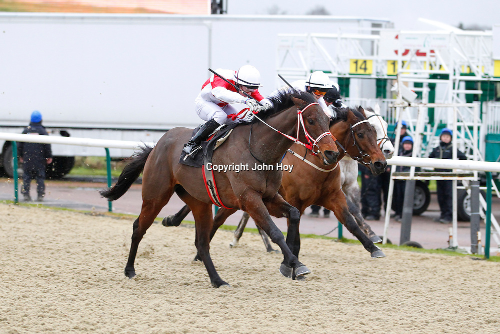 Brown Pete and William Carson winning the 1.30 race