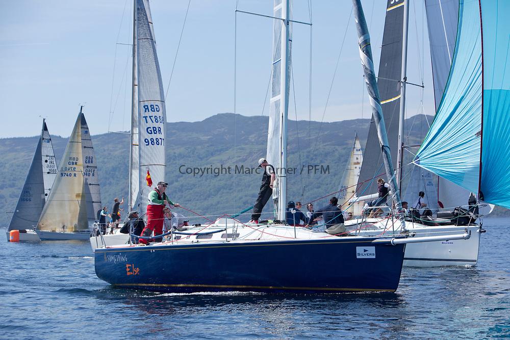 Silvers Marine Scottish Series 2017<br /> Tarbert Loch Fyne - Sailing<br /> <br /> IRL29213, Something Else, Hall/McDonnell, National YC, J109
