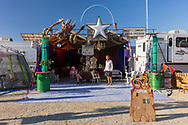 Roasted Breaux & Coffee Heaux Coffee Camp has a spectacular facade, camp, and solar array. Thanks for the tour! My Burning Man 2019 Photos:<br />