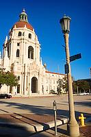 Garfield Avenue and Holly Street at City Hall, Pasadena, California