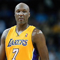 04 October 2010:  Los Angeles Lakers Lamar Odom is seen during the Minnesota Timberwolves 111-92 victory over the Los Angeles Lakers, during 2010 NBA Europe Live, at the O2 Arena in London, England.