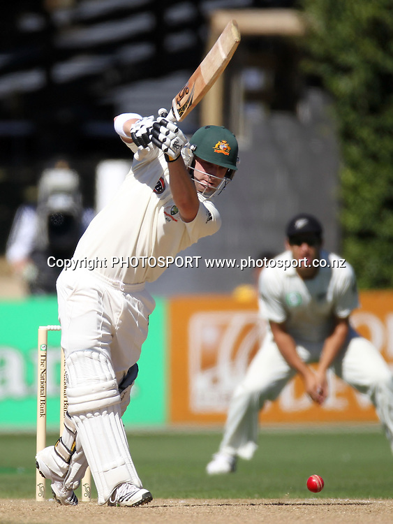 Australia's Phil Hughes batting.<br />