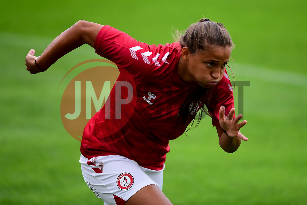 Abi Harrison of Bristol City prior to kick off  - Mandatory by-line: Ryan Hiscott/JMP - 06/09/2020 - FOOTBALL - Twerton Park - Bath, England - Bristol City Women v Everton Ladies - FA Women's Super League