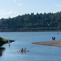 The Columbia River in Hood River, Oregon
