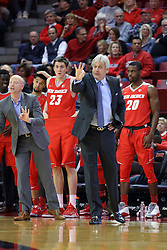 03 December 2016:  Chris Harriman, Craig Neal during an NCAA  mens basketball game between the New Mexico Lobos the Illinois State Redbirds in a non-conference game at Redbird Arena, Normal IL