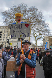 Thousands of demonstrators attended the People's vote march in London. The demonstrators assembled around Park Lane before making their way to Parliament Square. London, 23rd March 2019.
