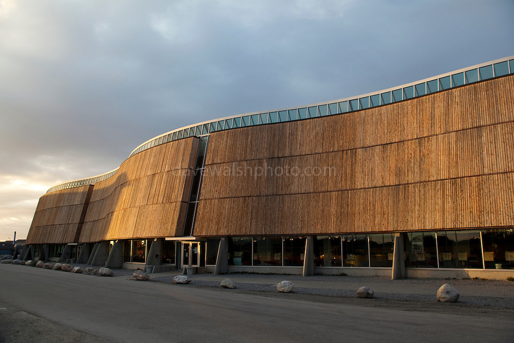 Katuaq Culture Centre, Nuuk, designed by architects Schmidt Hammer Lassen and inspired by the Aurora Borealis, or northern lights.