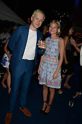 The Johnnie Walker Blue Label and David Gandy Drinks Reception aboard John Walker & Sons Voyager, St.Georges Stairs Tier, Butler's Wharf Pier, London, UK on 16th July 2013.<br /> Picture Shows:-Ben Hudson, Pandora Sykes.