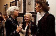 Lady thomas, Marigold Johnson Mrs. Paul Johnson)  and Lady Egrement, Matthew Carr exhibition opening, Marlborough Fine Art, 25 November 2003. © Copyright Photograph by Dafydd Jones 66 Stockwell Park Rd. London SW9 0DA Tel 020 7733 0108 www.dafjones.com