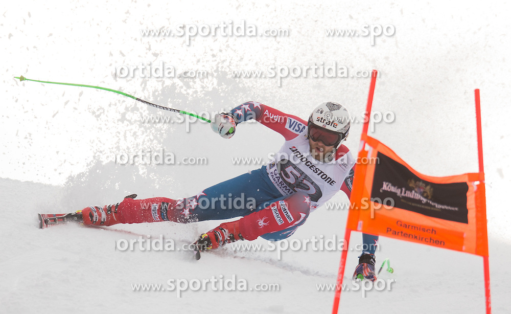 28.01.2016, Kandahar, Garmisch Partenkirchen, GER, FIS Weltcup Ski Alpin, Abfahrt, Herren, 1. Training, im Bild Wiley Maple (USA) // Wiley Maple of the USA competes in his 1st training run for the men's Downhill of Garmisch FIS Ski Alpine World Cup at the Kandahar course in Garmisch Partenkirchen, Germany on 2016/01/28. EXPA Pictures © 2016, PhotoCredit: EXPA/ Johann Groder