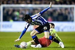 Fernando Forestieri of Sheffield Wednesday takes on Bernardo Silva of Manchester City - Mandatory by-line: Robbie Stephenson/JMP - 04/03/2020 - FOOTBALL - Hillsborough - Sheffield, England - Sheffield Wednesday v Manchester City - Emirates FA Cup fifth round