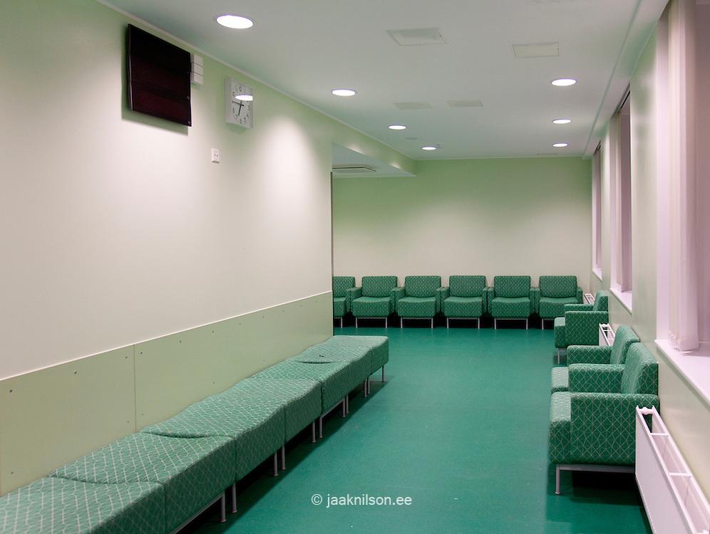 Tartu University Hospital in Estonia, corridor and waiting area