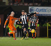10th April 2018, Tannadice Park, Dundee, Scotland; Scottish Championship football, Dundee United versus St Mirren; John Sutton of St Mirren and Grant Gillespie of Dundee United