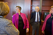 Jan. 12, 2009 -- PHOENIX, AZ: Governor JANET NAPOLITANO, center, talks to family and supporters during a reception in her office before she delivered her last Arizona State of the State to the State Legislature Monday. Arizona Governor Janet Napolitano has been nominated by Persident Elect Barack Obama to be the Secretary of Homeland Security, she delivered her last State of the State Monday. She leaves for Washington DC Tuesday, Jan 13 and is expected to be confirmed by the US Senate Jan 20. She will resign as Governor after she is approved by the Senate. Photo By Jack Kurtz / ZUMA Press