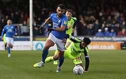 Serhat Tasdemir of Peterborough United gets away from Liam Bridcutt of Bolton Wanderers - Mandatory by-line: Joe Dent/JMP - 14/12/2019 - FOOTBALL - Weston Homes Stadium - Peterborough, England - Peterborough United v Bolton Wanderers - Sky Bet League One