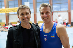 Farewell of Slovenian athlete Aljaz Pegan (at picture with Lojze Kolman) at his last competition in his sports career during Slovenian Gymastics Cup 2013 on June 2, 2013 in GIB arena, Ljubljana, Slovenia. (Photo By Vid Ponikvar / Sportida)
