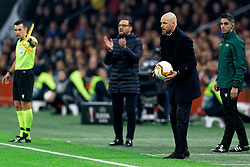 Coach Jose Bordalas of Getafe and Erik ten Hag of Ajax in action during the Europa League match R32 second leg between Ajax and Getafe at Johan Cruyff Arena on February 27, 2020 in Amsterdam, Netherlands