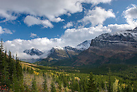 Clearing Autumn storm over the Swiftcurrent Valley of Glacier National Park Montana USA