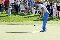 25.06.2015, Golfclub München Eichenried, Muenchen, GER, BMW International Golf Open, im Bild Marcel Siem (GER) beim Putten // during the BMW International Golf Open at the Golfclub München Eichenried in Muenchen, Germany on 2015/06/25. EXPA Pictures © 2015, PhotoCredit: EXPA/ Eibner-Pressefoto/ Kolbert<br /> <br /> *****ATTENTION - OUT of GER*****