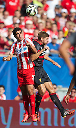 CHICAGO, USA - Sunday, July 27, 2014: Liverpool's captain Steven Gerrard in action against Olympiacos during the International Champions Cup Group B match at the Soldier Field Stadium on day seven of the club's USA Tour. (Pic by David Rawcliffe/Propaganda)