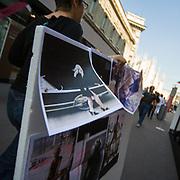 Settimana della moda a Milano settembre 2010. Preparativi per le sfilate <br /> <br /> Fashion week in Milan september 2010.<br /> The preparations for the fashion shows.
