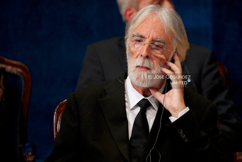 Michael Haneke attends the 'Prince of Asturias Awards 2013' ceremony Gala at the Campoamor Theater on October 25, 2013 in Oviedo, Spain.