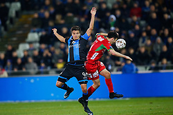 January 25, 2018 - Brugge, BELGIUM - Club's Jelle Vossen and Oostende's Aleksandar Bjelica fight for the ball during the Jupiler Pro League match between Club Brugge KV and KV Oostende, in Brugge, Thursday 25 January 2018, on day 23 of the Jupiler Pro League, the Belgian soccer championship season 2017-2018. BELGA PHOTO BRUNO FAHY (Credit Image: © Bruno Fahy/Belga via ZUMA Press)