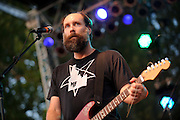 Indie rock band Built To Spill performing at LouFest in St. Louis on August 28, 2010.