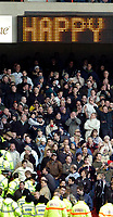 Photo: Leigh Quinnell.<br /> Nottingham Forest v Swansea. Coca Cola League 1. 11/02/2006. Are the Swansea fans happy with all the police in the crowd.