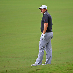 Apr 28, 2016; Avondale, LA, USA; Brian Stuard on the 18th hole during the first round of the 2016 Zurich Classic of New Orleans at TPC Louisiana. Mandatory Credit: Derick E. Hingle-USA TODAY Sports