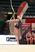Carla Stucchi della Moderna Legnano durante la tappa di Bologna del campionato Italiano di Ginnastica Ritmica 2019.