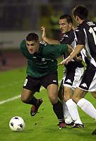 23.08.2005 Belgrade(Serbia)<br />Partizan-Artmedia second match in Third Round Qualifying for Champions League<br />Fodrek Branislav(L)Artmedia and  Brnovic Nenad(C)Partizan<br />Foto:Aleksandar Djorovic