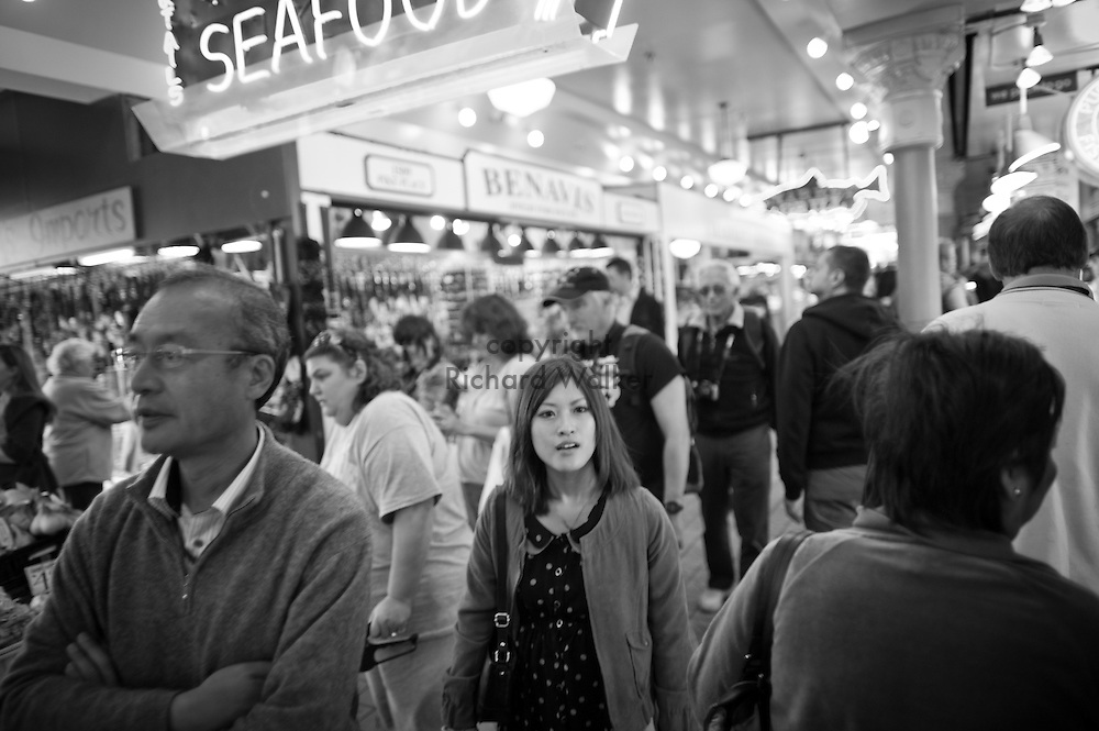 2012 May 08 - People at Pike Place Market, Seattle. Copyright Richard Walker