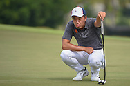 Cheng JIN (CHN) lines up his putt on 18 during Rd 3 of the Asia-Pacific Amateur Championship, Sentosa Golf Club, Singapore. 10/6/2018.<br /> Picture: Golffile | Ken Murray<br /> <br /> <br /> All photo usage must carry mandatory copyright credit (© Golffile | Ken Murray)