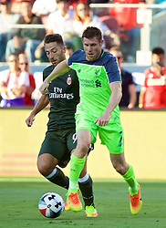 SANTA CLARA, USA - Saturday, July 30, 2016: Liverpool's James Milner in action against AC Milan during the International Champions Cup 2016 game on day ten of the club's USA Pre-season Tour at the Levi's Stadium. (Pic by David Rawcliffe/Propaganda)