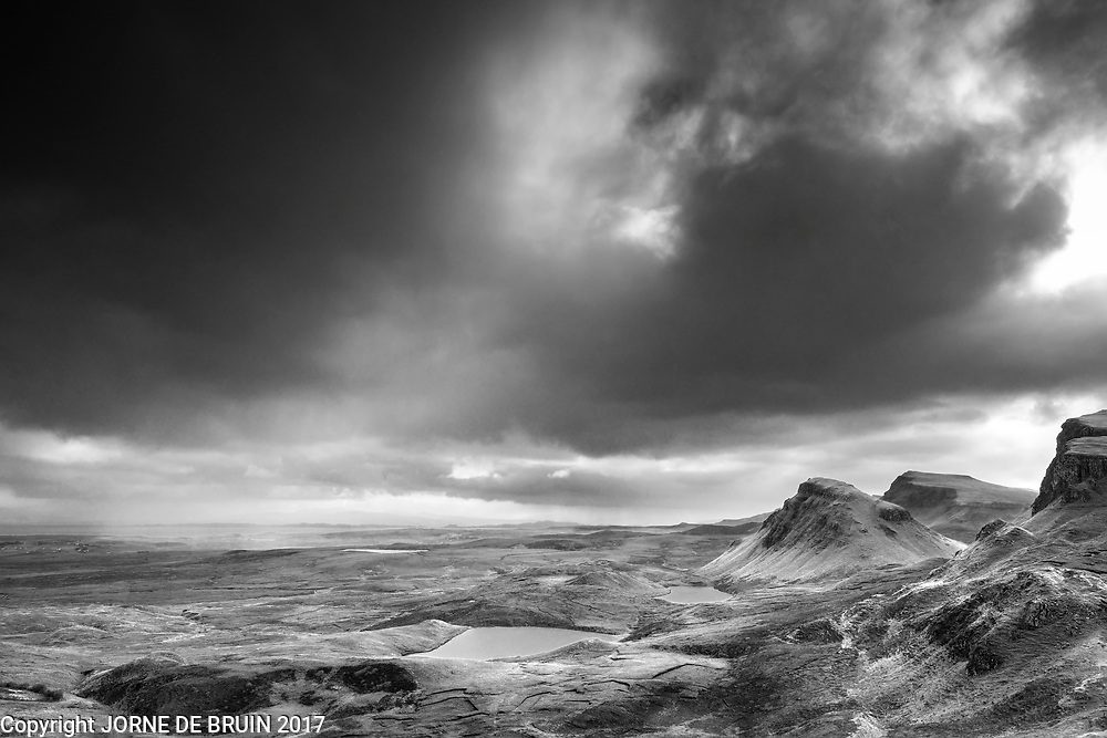 Clouds over the Quiraing mountains on the Isle of Skye