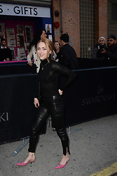 April 12, 2018 - New York, NY, USA - April 12, 2018  New York City..AnnaSophia Robb attending Swarovski Times Square store party celebration at Hudson Mercantileon April 12, 2018 in New York City. (Credit Image: © Kristin Callahan/Ace Pictures via ZUMA Press)