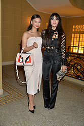 Left to right, LEAH WELLER and ZARA MARTIN at the Lancôme BAFTA Dinner held at The Cafe Royal, Regent's Street, London on 6th February 2015.