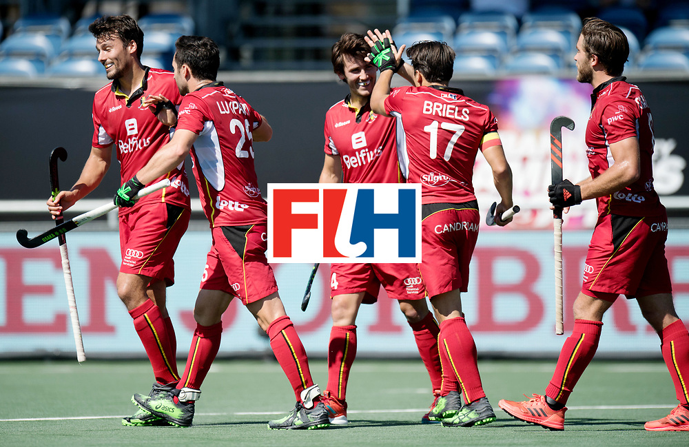 BREDA - Rabobank Hockey Champions Trophy<br /> Belgium - Pakistan<br /> Photo: Belgium celebrates.<br /> COPYRIGHT WORLDSPORTPICS FRANK UIJLENBROEK