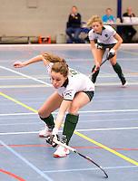 ARNHEM -  Amy Vloet van Rotterdam. . Rotterdam-Schaerweijde , tijdens de eerste dag van de zaalhockey competitie in de hoofdklasse, seizoen 2013/2014. FOTO KOEN SUYK
