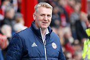Brentford Manager / Head Coach Dean Smith during the EFL Sky Bet Championship match between Brentford and Ipswich Town at Griffin Park, London, England on 7 April 2018. Picture by Andy Walter.