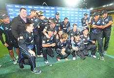 Wellington-Cricket, New Zealand v India, 5th one day, January 31