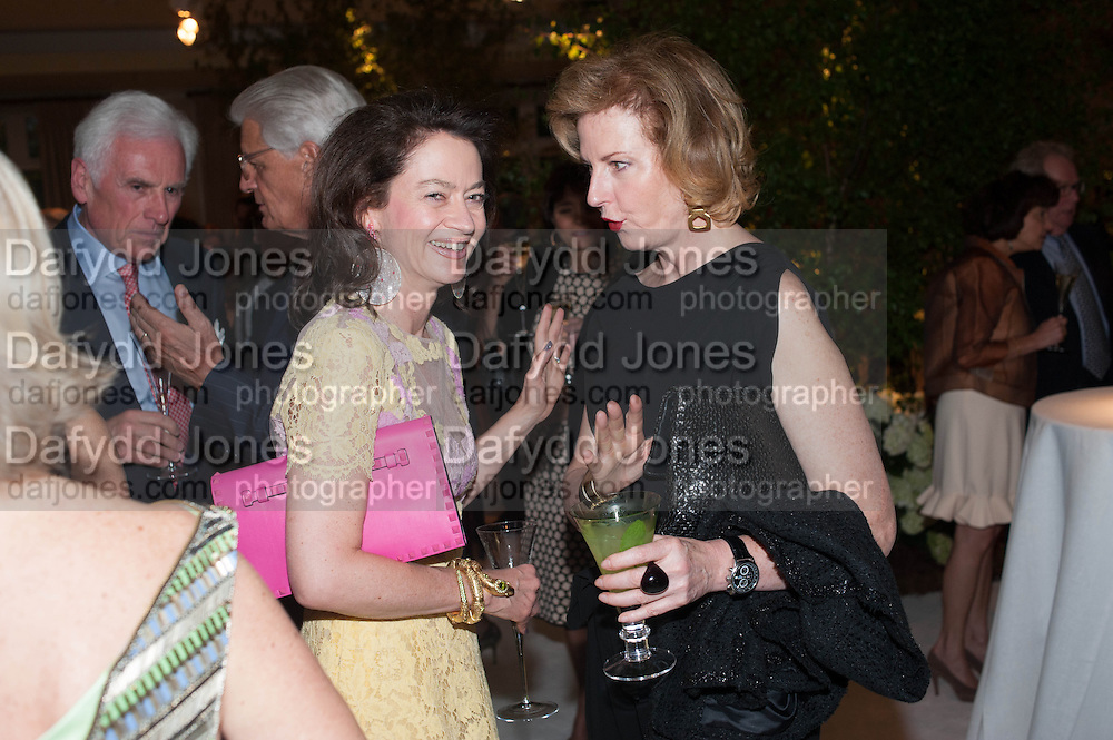 CORRINE FLICK; JULIA PEYTON-JONES, The Cartier Chelsea Flower show dinner. Hurlingham club, London. 20 May 2013.