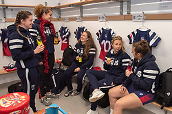 Bristol Bears Women in the changing room before facing Loughborough Lightning - Mandatory by-line: Paul Knight/JMP - 22/12/2018 - RUGBY - Shaftesbury Park - Bristol, England - Bristol Bears Women v Loughborough Lightning - Tyrrells Premier 15s