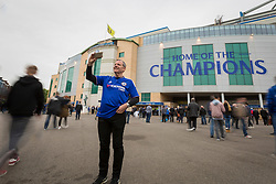 A Chelsea fan stands outside Stamford Bridge taking a selfie at the Home of the Champions - Mandatory by-line: Jason Brown/JMP - 15/05/2017 - FOOTBALL - Stamford Bridge - London, England - Chelsea v Watford - Premier League